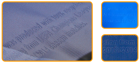 Veredelung Blindprägung Logo